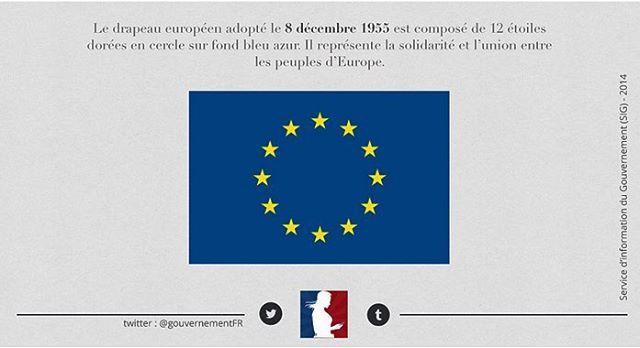[#ArchivesGouv] Le 08/12/1955 : adoption du drapeau européen composé de 12 étoiles dorées sur fond bleu azur 🇪🇺 #Europa #Europe #EU #EuropeanFlag #drapeaueuropéen #EuropeanUnion #Flag