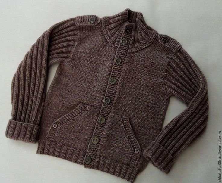"""Купить Вязаная куртка модель """"Пилот"""" - однотонный, куртка, вязаная одежда, одежда для детей"""