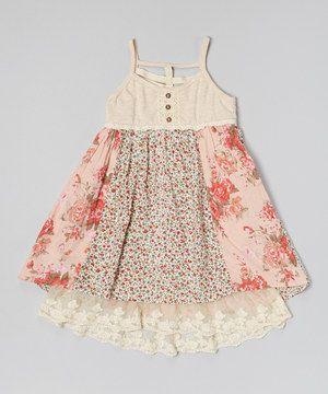 Look at this #zulilyfind! Pink & Blue Floral Tank Dress - Toddler & Girls by Free Planet #zulilyfinds