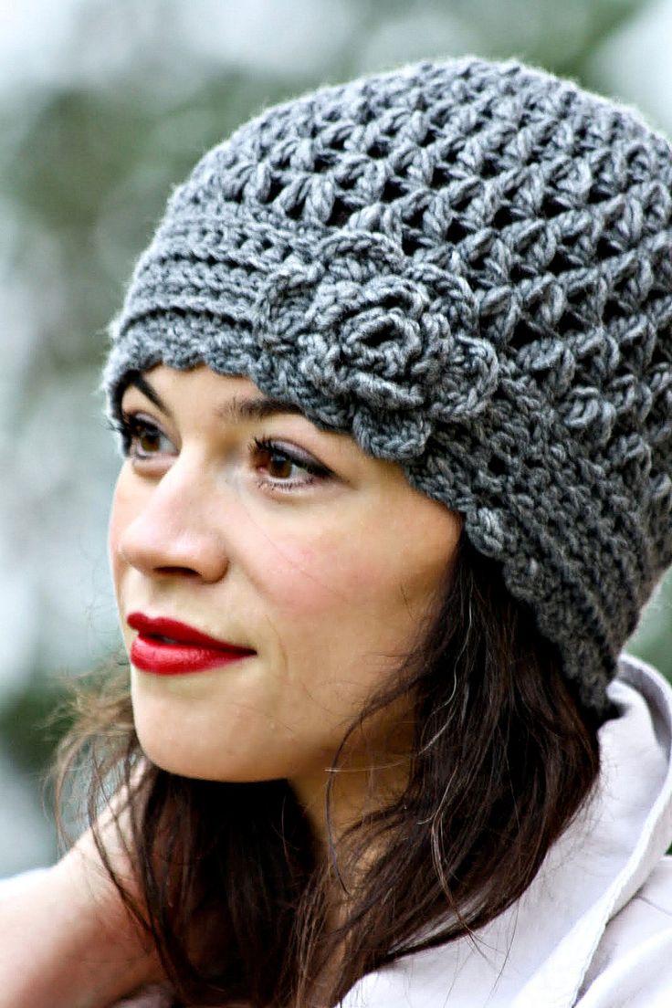 Crocheting Beanies : hat link crochet crochet hats one skein crochet crochet slouchy hat ...