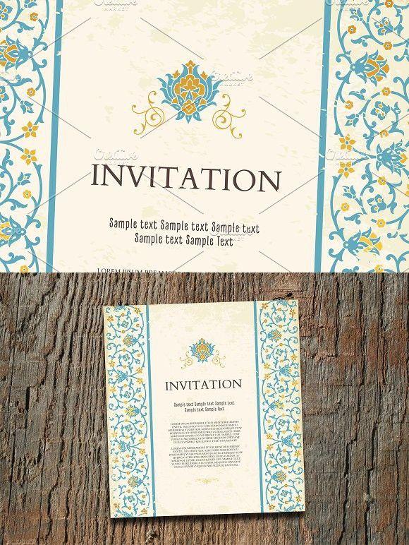 Vintage Invitation Card Template Vintage Invitations Invitation Cards Invitations
