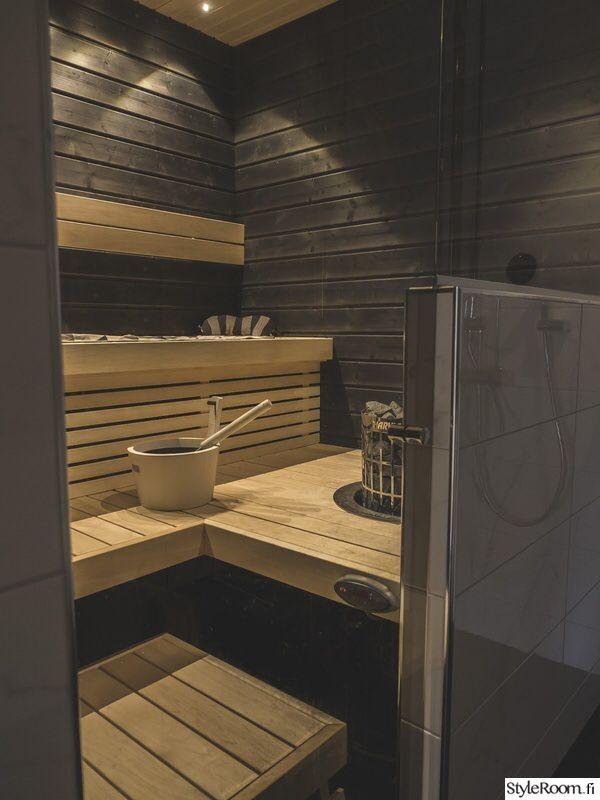 Upotettava kiuas, musta valkoinen sauna