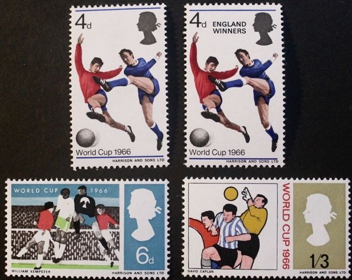 World cup Football championship 1966 stamps, Elizabeth II, SG ref: 693-695, MNH