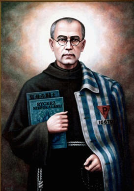 Maximilian Kolbe was born at Zdunska Wola near Lodz in Poland in 1894. After the Nazi invasion of Poland, Maximilian was arrested as an 'intellectual' and taken to Auschwitz in May 1941. There he continued his priestly ministry, secretly celebrating the eucharist. When, after an escape, a prisoner was chosen to forfeit his life as an example, Maximilian stepped forward to take his place and be put to death. Two weeks later he was injected with phenol and died on this day in 1941.