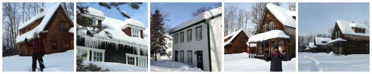 Cet hiver, nous avons le plaisir de pouvoir découvrir le village historique de Val Jalbert (Lac St Jean, Québec) sous la neige!