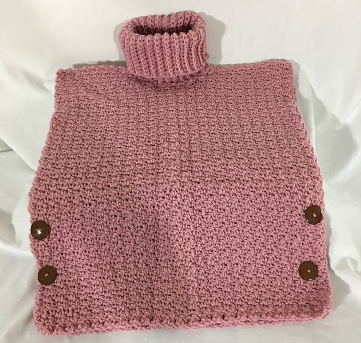A personal favorite from my Etsy shop https://www.etsy.com/ca/listing/525238886/girls-crochet-pull-over-dusty-rose-cow