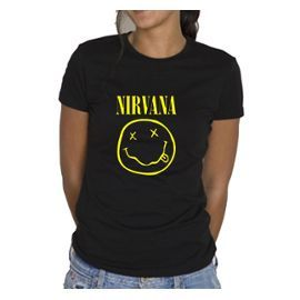 T-Shirt Nirvana Femme NIRVANA rock metal hard - Taille S M L XL