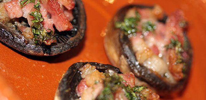 Gastromand goes Tapas IV: Fyldte svampe med bacon