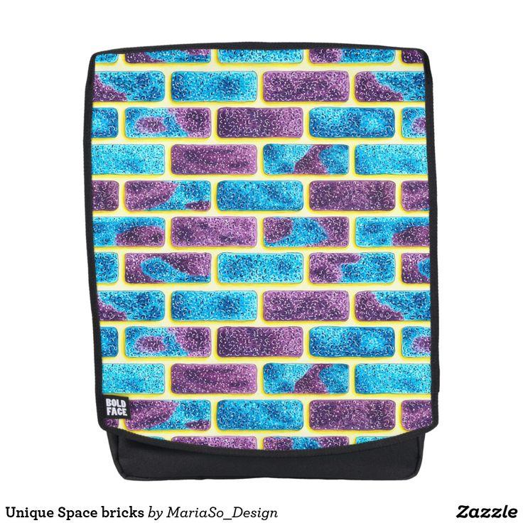 Unique Space bricks Backpack