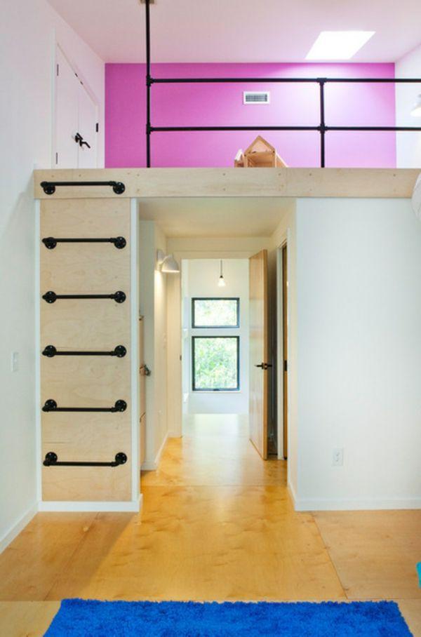 Leiter dachboden pinterest leiter rosa w nde und for Jugendzimmer dachboden