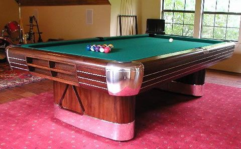 antique pool table | Brunswick Balke Collender Co.'s The Anniversary billiard pool table