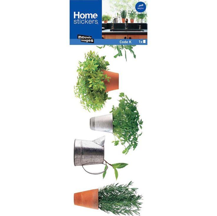 Sticker fenêtre herbes aromatiques - LAA-0113 - Revêtement sol et mur