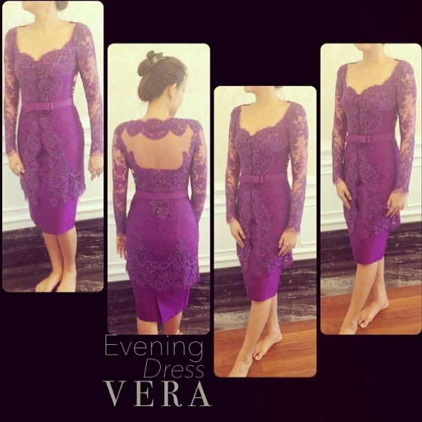 Purple dress kebaya #purplelove