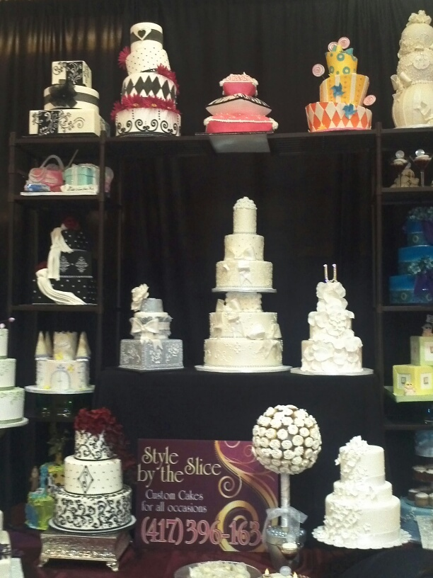 Bridal show booth display...love the idea of shelving AA ...