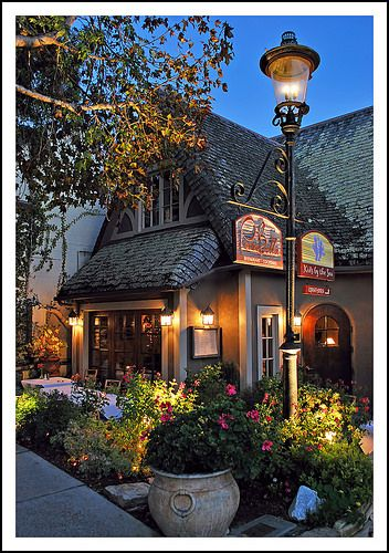 CARMEL'S PORTABELLA RESTAURANT IN THE EVENING (a favorite of mine DM)