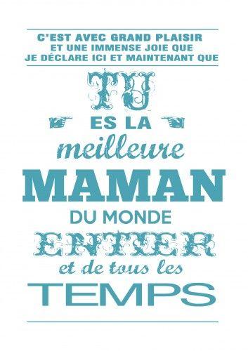 maman,carte fete des mamans,cadeau de fête des mères,carte fête des mères,à imprimer,à encadrer,turquoise