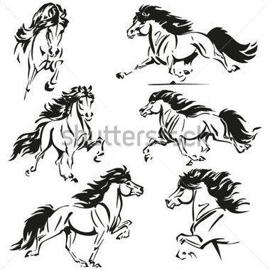 Temas DE Cavalo Islandês Escova Esboço Baseado Imagens Mostrando Cavalos Correndo Islandês imagem vetorial - Clipart.me