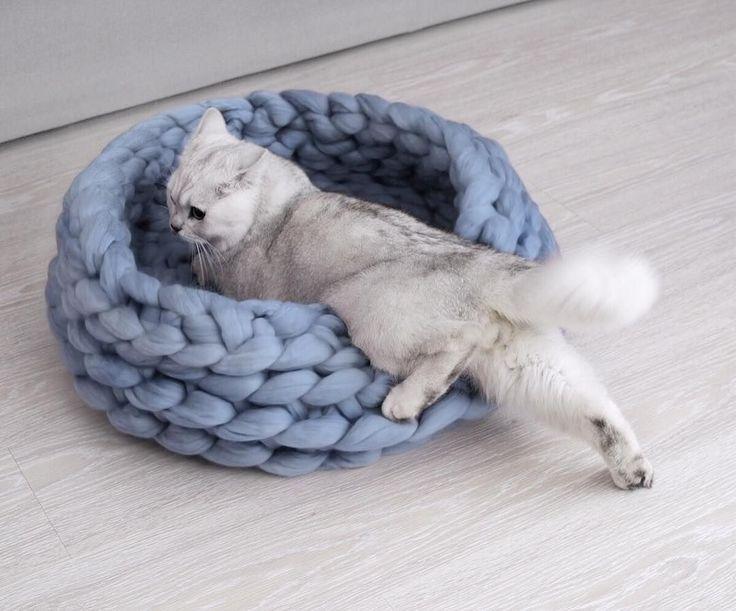 Tricot XXL : un panier pour chat  - Marie Claire Idées