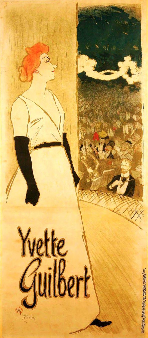 THEOPHILE STEINLEN. Yvette Guilbert. 1894.