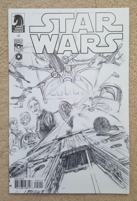 Dark Horse Comics - Star Wars Issues 2 : Rare Alex Ross Sketch Variants 2013 - W.B.