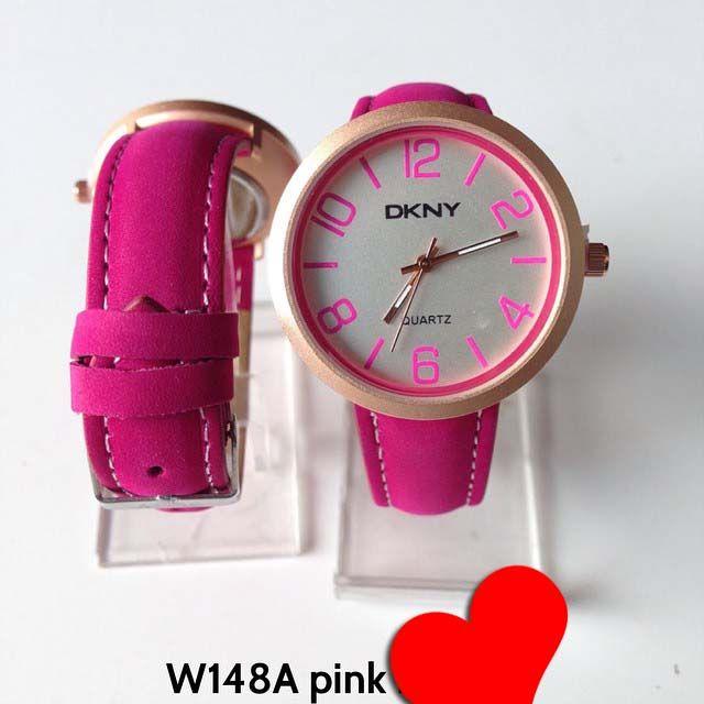 Jam tangan DKNY for ladies Kode barang : W148A pink || Harga 85ribu || Diameter : 3.7cm || Tali : kulit lapis suede || Water resistant: tidak