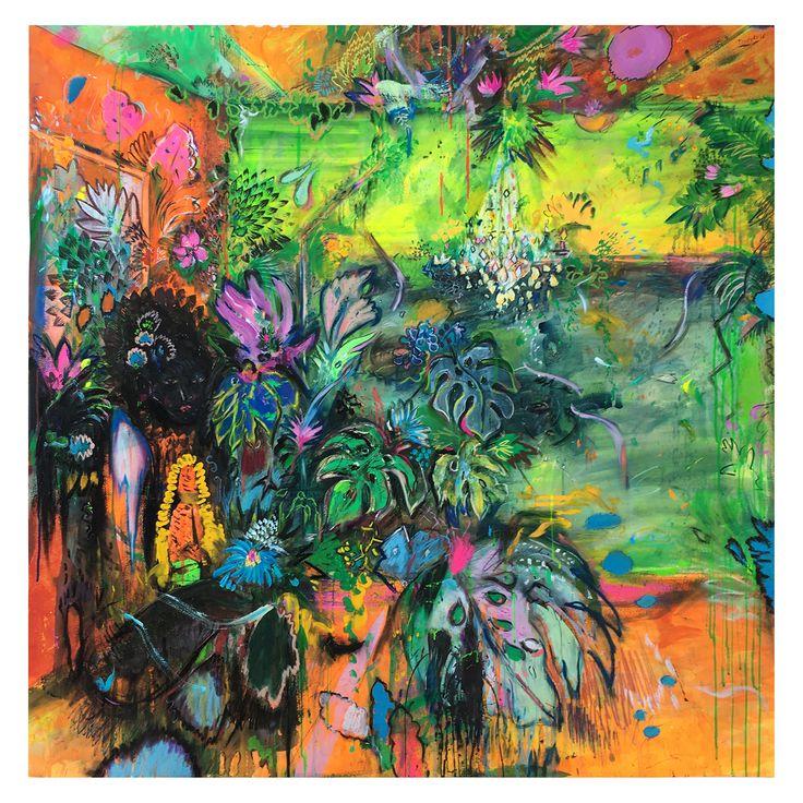 CUATRO #2 (DESEO), #deco, #theworldofinteriors, #plants, #orange, #finearts, illustration, #antiqueillustrations, #monstera, #lucaspertile