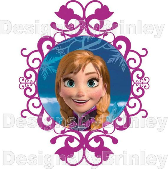 Disney Frozen Anna Iron on Transfer by DesignsByBrinley on Etsy