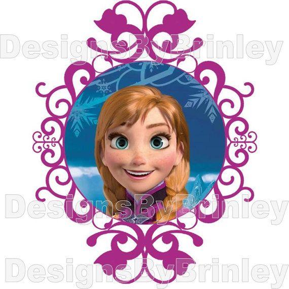 Disney Frozen Anna Iron on Transfer by DesignsByBrinley on Etsy, $2.50