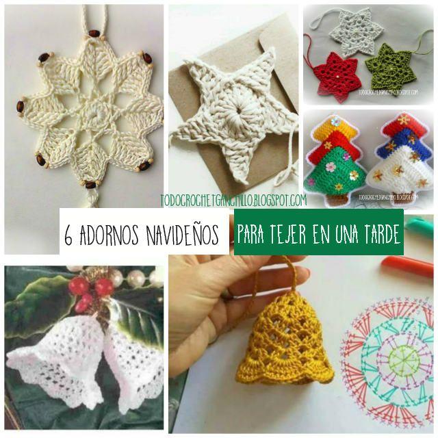 todo crochet adornos navideos para tejer en una tarde