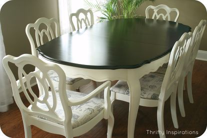 french provincial table set makeover, chalk paint, home decor, living room ideas, painted furniture, French Provincial Table Set Refinished