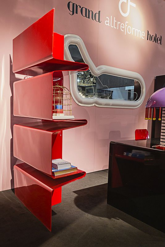 #cioccolata bookshelf, #design Aziz Sariyer #monza mirror, #design Valentina Fontana for #altreforme grand altreforme hotel #stand @iSaloni 2015  #grandaltreformehotel #altreformegoesfashion #myminisalvador #designweek#interior #home #decor #homedecor #furniture with #woweffect #aluminium