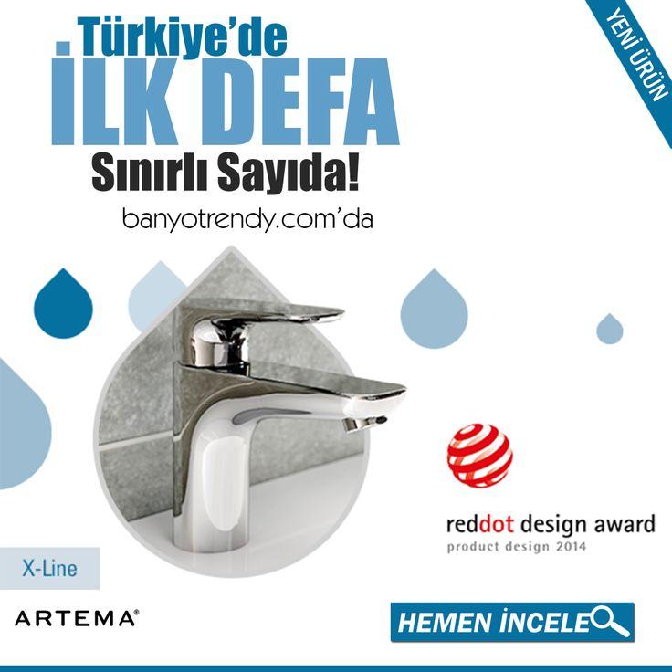 Artema 2014 Tasarım Ödüllü Ürünü X-Line Lavabo Bataryası İlk Defa banyotrendy.com 'da! #banyotrendy #artema #xline #banyodekorasyon #reddotdesignaward2014 http://www.banyotrendy.com/artema-x-line-lavabo-bataryasi-pmu16707
