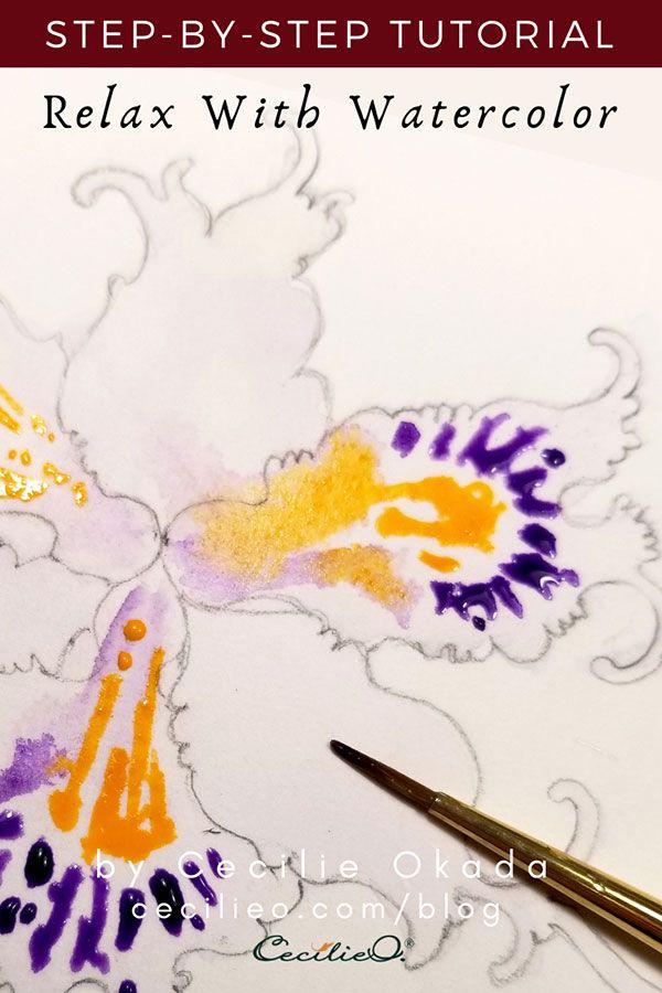 Watercolor Tutorial For Beginners Iris Flower Watercolour