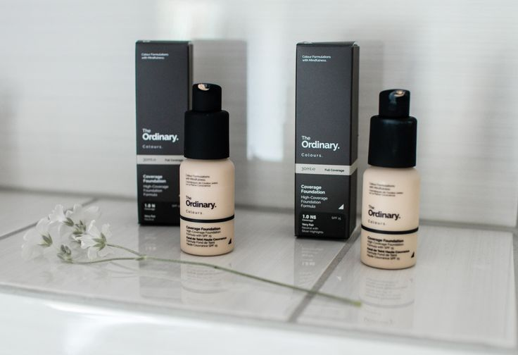 The Ordinary / high-coverage foundation review