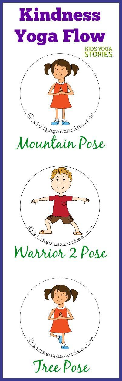 Kindness 3-Yoga Pose Flow | Kids Yoga Stories