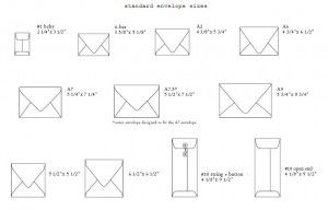 standard envelope sizes