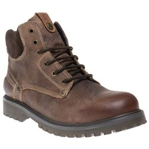 Mens Wrangler Brown Yuma Leather Boots Lace Up (Brown)