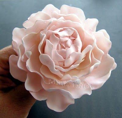 peony flowers from gum paste tutorial