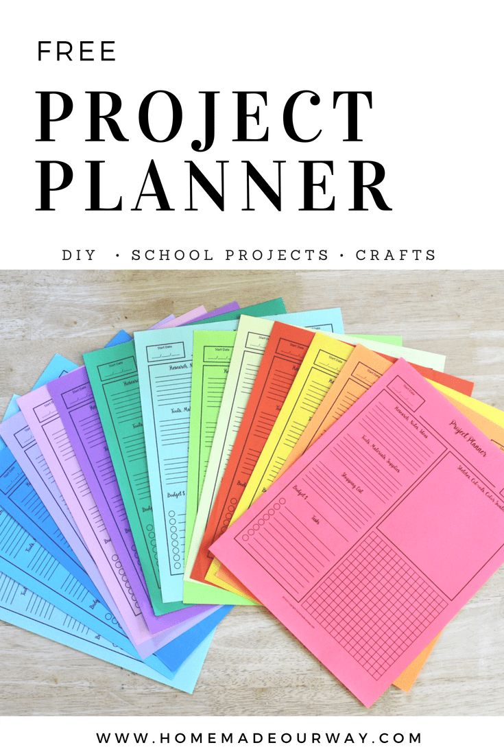 Free Project Planner PDF | DIY projects | Craft Projects | School Projects | #project #planner #pdf