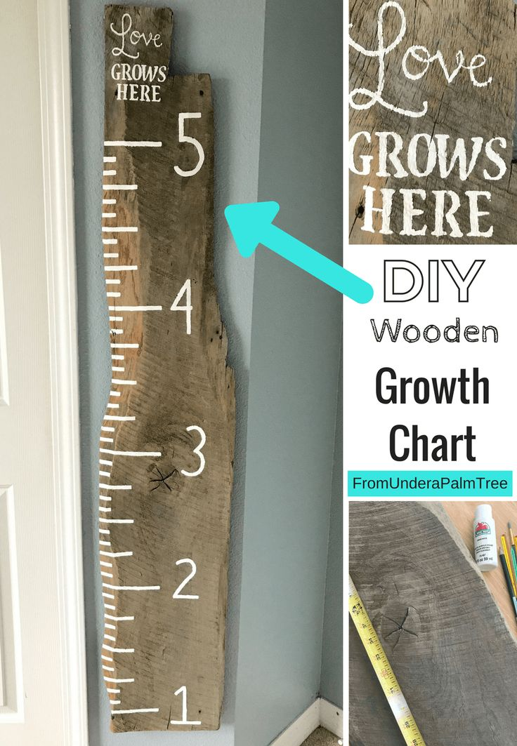 DIY Wooden Growth Chart | Growth charts, Chart and Craft