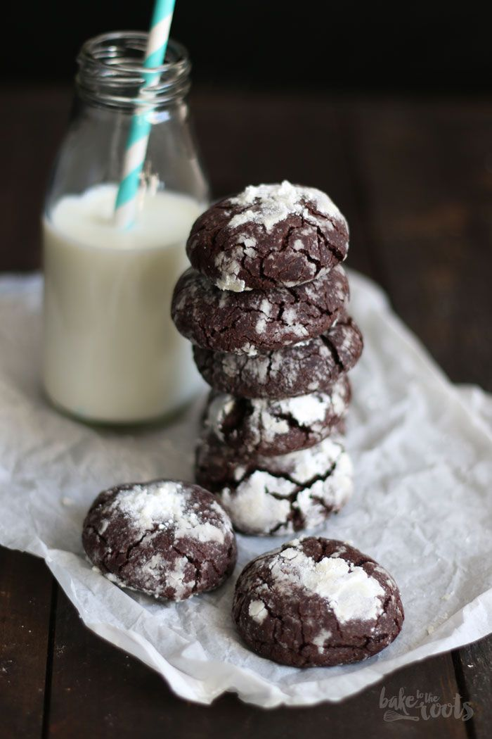 Chocolate Crinkle Cookies | Bake to the roots
