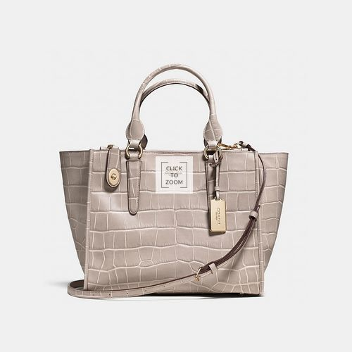 Coach Outlet Locations & COACH CROSBY carryall LIGHT GOLD/GREY BIRCH