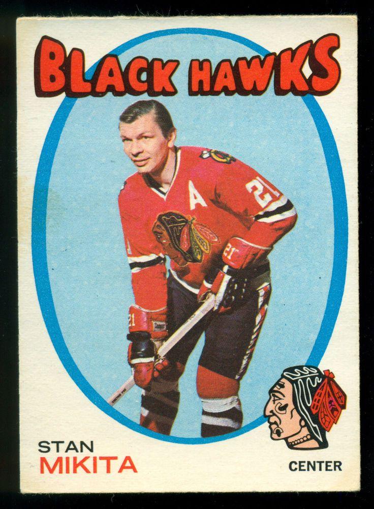1971 72  Topps 125 STAN MIKITA NM CHICAGO BLACK HAWKS HOCKEY CARD