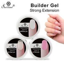 Saviland 1pcs Semi Permanent UV Builder Gel Polish UV LED Dry Fast Soak Off Clear Nails Extension Gel Varnish(China)