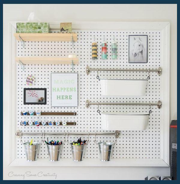 Pegboard Organizer Desk Organizer Ikea Office Organization Ideas Pinterest Pegboard Organiz In 2020 Craft Room Office Diy Peg Board Organize Craft Supplies