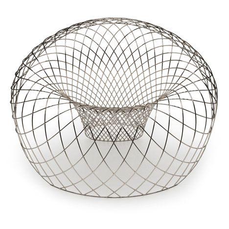 Reverb Wire Chair by Brodie Neill #gcucine #design  Visite o nosso site! www.gcucine.com.br