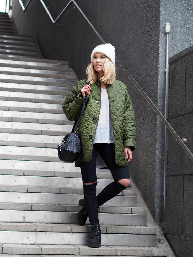 LACK OF COLOUR / Army green / Long Bomber jacket
