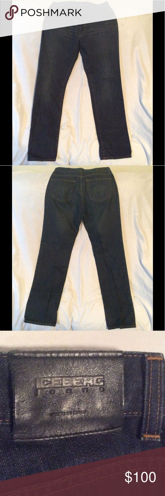 Vintage Iceberg jeans Bought in Manhattan. Very nice. Dark blue. Designer jeans. Made in Italy. Iceberg Jeans Straight Leg