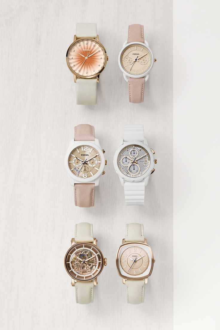 We're thinking white and blush pink boyfriend watches would make the perfect Mother's Day gift.