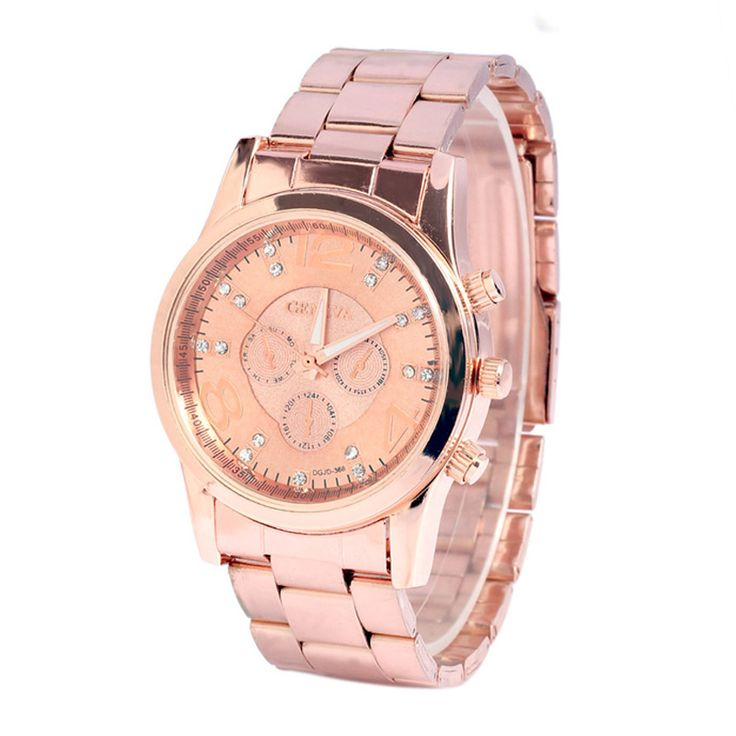 Yoner Rose Gold Watch Women Brand Rhinestone Stainless Quartz Analog Women's Wrist Watches Relojes Mujer  Montre Femme De Marque